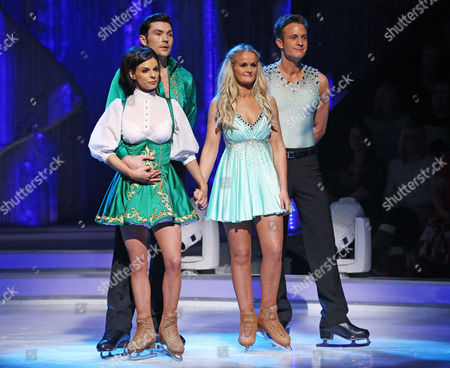 Stock Picture of Gary Lucy and Katie Stainsby are voted off after Sam Attwater and Vicky Ogden win the vote