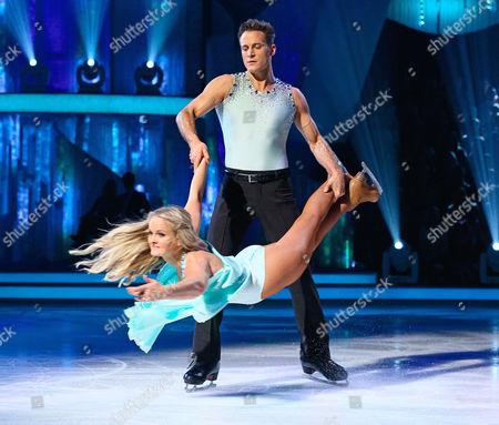 Gary Lucy and Katie Stainsby during the skate-off