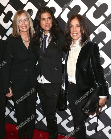 Barbara Bach and Francesca Gregorini with Olivia Harrison