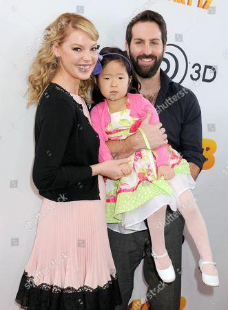 Katherine Heigl, Josh Kelley and daughter Naleigh
