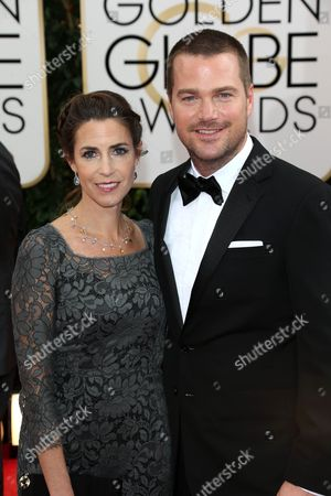 Stock Image of Chris O Donnell and Caroline Fentress