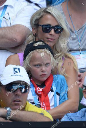 Rebecca Cartwright and son Cruz
