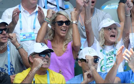 Stock Photo of Rebecca Cartwright, son Cruz and mother of Lleyton Hewitt
