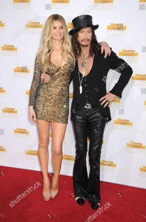 Marisa Miller and Steven Tyler