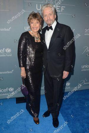 Stock Photo of Dena Kaye and Michael Douglas