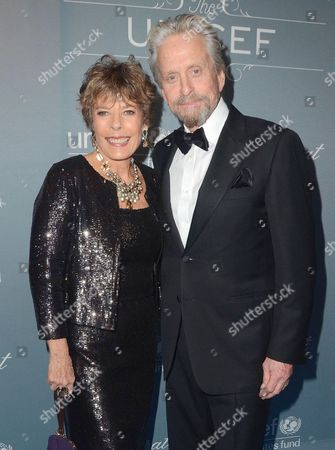 Stock Picture of Dena Kaye and Michael Douglas