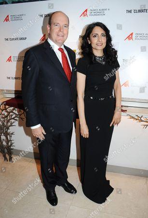 Prince Albert II of Monaco and Renu Mehta