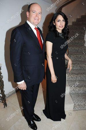 Stock Photo of Prince Albert II of Monaco and Renu Mehta
