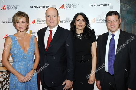 Stock Picture of Amanda Holden, Prince Albert II of Monaco, Renu Mehta and guest