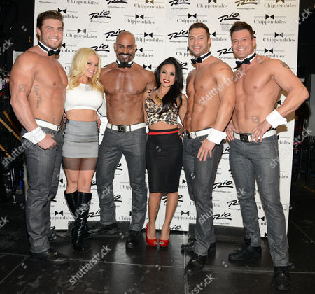 Stock Photo of Jesse Jane and Kaylani Lei and Chippendales
