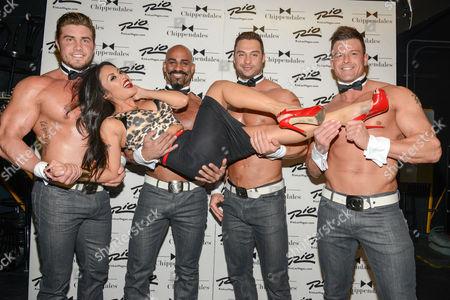 Editorial image of Jesse Jane celebrity guest Chippendales, Las Vegas, America - 15 Jan 2014
