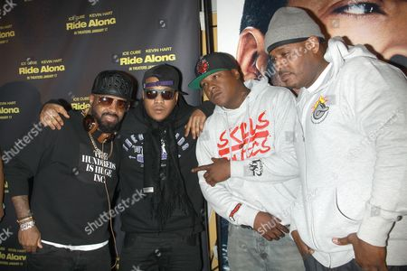 Jermaine Dupri with Styles P, Jadakiss and Sean Divine Jacobs of The L.O.X.
