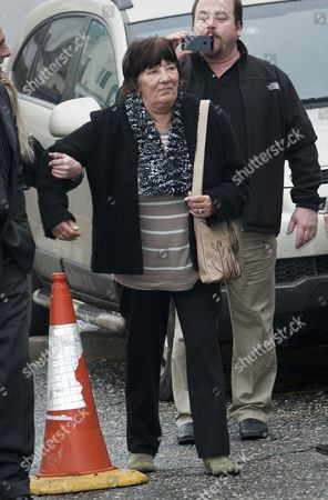 Marjorie Kidd Mother Of Motorcycle Stunt Rider Eddie Kidd At Brighton Magistrates Court Where Her Daughter In Law Samantha Kidd Is Accused Of Assaulting Eddie Kidd. 09.01.13 Reporter Louise Eccles.