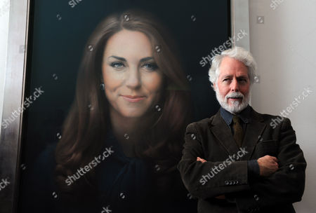The First Official Portrait Of The Duchess Of Cambridge Painted By Artist Paul Emsley At The National Portrait Gallery London 11.01.13.