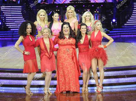 Natalie Gumede, Deborah Meaden, Karen Hauer, Lisa Riley, Susanna Reid, Natalie Lowe, Kristina Rihanoff and Abigail Clancy