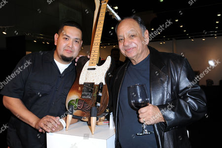 Editorial picture of Chicano Blazing Guitars Opening Night premiere Party at the LA Art Show, Los Angeles, America - 1 5Jan 2014