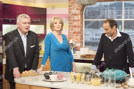 Stock Image of Eamonn Holmes and Ruth Langsford with Reza Mahammed