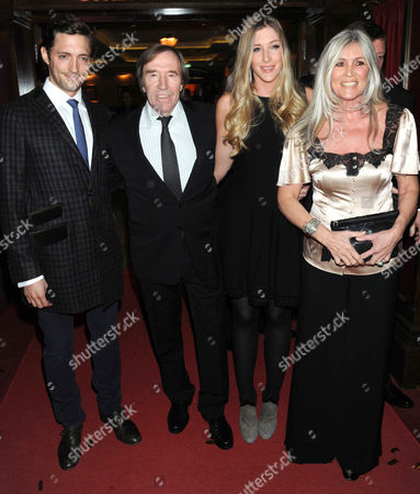 Stock Image of Guenther Netzer and Elvira Lang with daughter Alana and friend Massimo (L)