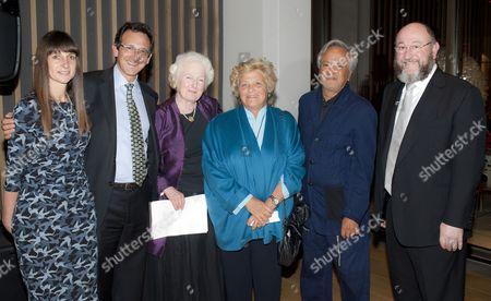 Debbie Klein Chairperson of the Board of Trustees, Nick Viner CEO of JW3, Rabbi Baroness Julia Neuberger, Dame Vivien Duffield, Sir Anish Kapoor, Chief Rabbi Ephraim Mirvis,