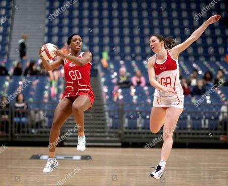 Eboni Beckford Chambers of England Netball (Left)