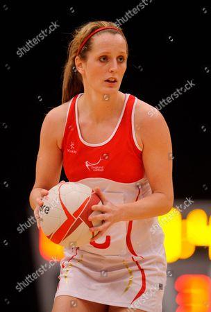Sara Bayman of England Netball