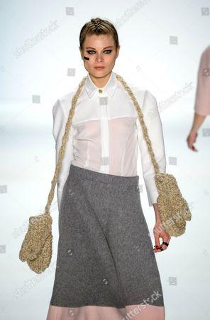Editorial picture of Anne Gorke show, Mercedes-Benz Fashion Week, Berlin, Germany - 17 Jan 2014
