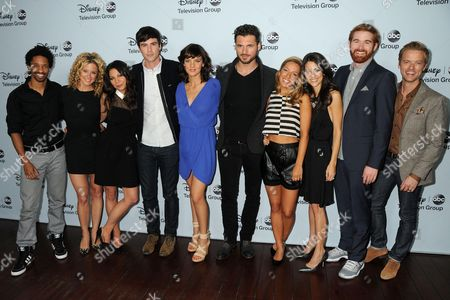 """Stock Picture of Cast of """"Mixology"""" - Craig Frank, Alexis Carra, Ginger Gonzaga, Blake Lee, Frances Shaw, Adan Canto, Vanessa Lengies, Kate Simses, Andrew Santino, Adam Campbell"""