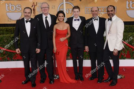 Stock Image of Cast of Homeland, Mandy Patinkin, Tracy Letts, Nazanin Boniadi, Jackson Pace, F. Murray Abraham and Navid Negahban