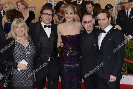 Stock Image of Collen Camp, David O Russell, Jennifer Lawrence, Paul Herman and Alessandro Nivola