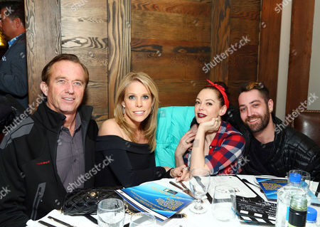 Stock Photo of Robert F. Kennedy Jr., Cheryl Hines, Rose McGowan and Davey Detail