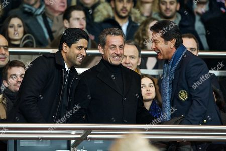 Nasser Al-Khelaifi, Nicolas Sarkozy and Waldemar Kita
