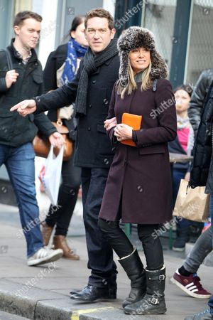 Tamzin Outhwaite and Barnaby Kay