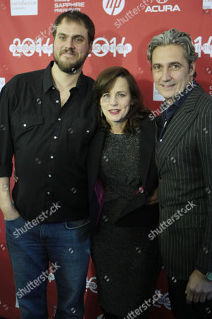 Stock Image of Director Jim Mickle, producer Linda Moran and producer Rene Bastian