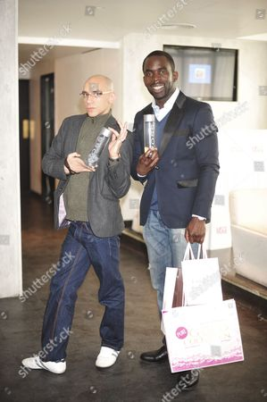 Fraser Ayres and Jimmy Akingbola
