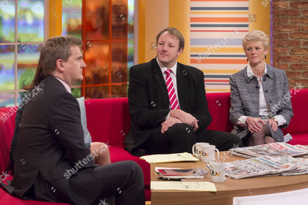 Aled Jones and Lorraine Kelly with Toby Perkins and Brigid Simmonds