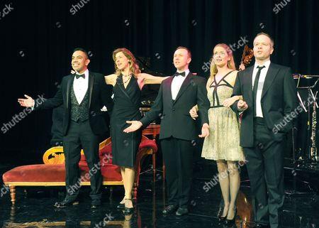 David Bedella, Janie Dee, Daniel Crossley, Caroline Sheen and Damian Humbley