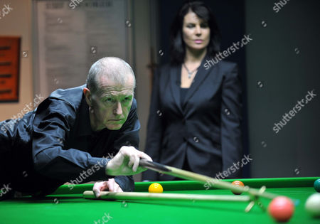 Editorial picture of Demonstration snooker match at Snookes Snooker Club, Weymouth, Dorset, Britain  - 20 Jan 2014