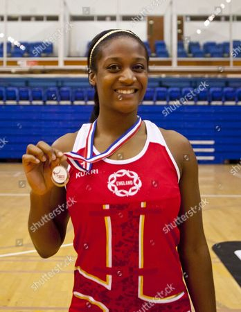 Stock Image of Sasha Corbin with the runners up medal