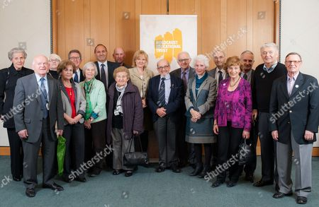 Lord John Browne, Thomas Harding and Martha Kearney with Holocaust survivors