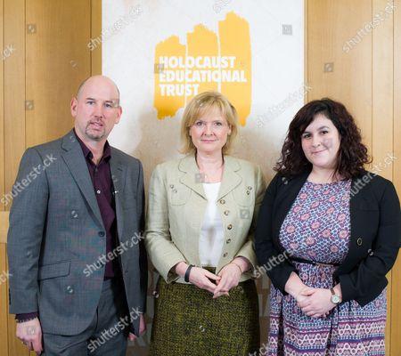 Thomas Harding, author of 'Hanns and Rudolf' with Martha Kearney, Presenter of BBC Radio 4's The World at One, and Holocaust Educational Trust Regional Ambassador Emma Raynor