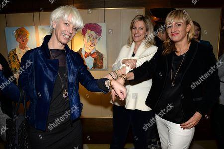 Mimma Vigelzio, Bec Astley Clarke and Lorna Watson