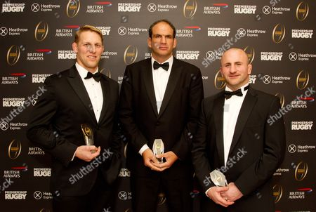 Lewis Moody, Martin Johnson and George Chuter