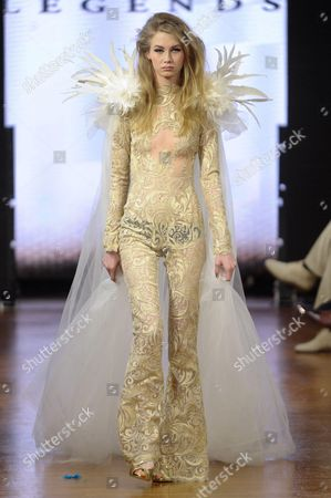 Editorial image of Legends by Bilal Barrage show, Haute Couture Autumn Winter, Paris Fashion Week, France - 21 Jan 2014