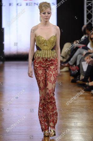 Editorial photo of Legends by Bilal Barrage show, Haute Couture Autumn Winter, Paris Fashion Week, France - 21 Jan 2014