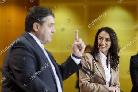 Sigmar Gabriel and Yasmin Fahimi