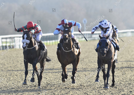 Arch Villain (Jim Crowley) wins The 32Red Conditions Stakes from Communicator (David Probert) and Ted Spread (Luke Morris)