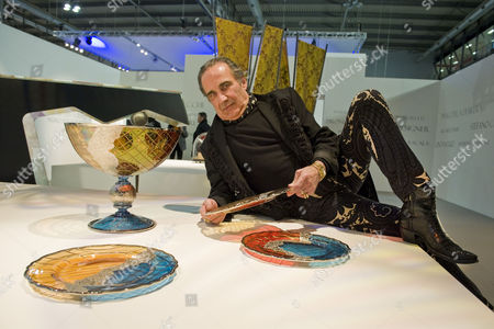 Stock Image of Carlo Rampazzi with his work