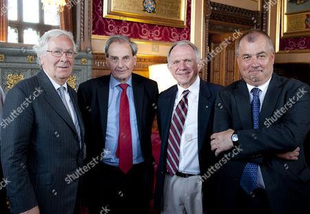 Sir Mervyn King, Dr David Livesey, John Dauth and Sir Brendan Barber