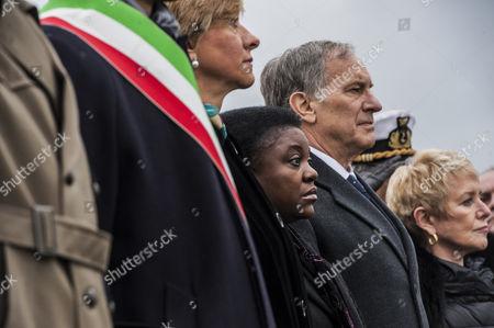 Italian Minister of Integration Cecile Kyenge and the USA Ambassador John R. Phillips