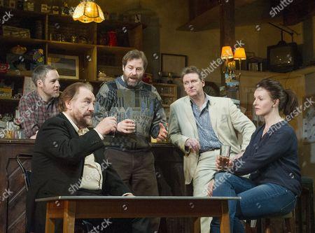 Peter McDonald as Brendan, Brian Cox as Jack, Ardal O'Hanlon as Jim, Risteard Cooper as Finbar, Dervla Kirwan as Valerie